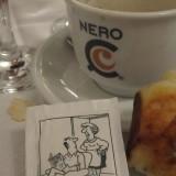 Kaffe latte.....på dansk manér. Her er det ikke god stil med mælk, når der skal fordøjes og soves...!