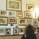 Elsker de italienske spisesteder med galleri-memory væg