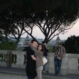 Solnedgang på Villa Borgheses højeste punkt
