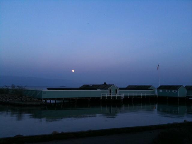 Fuldmåne over badeanstalten