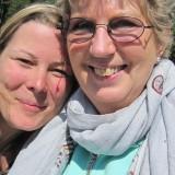 Christa med guru Kirsten, vores allesammens mor med healende hænder