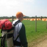 Marcus på vej til lejren