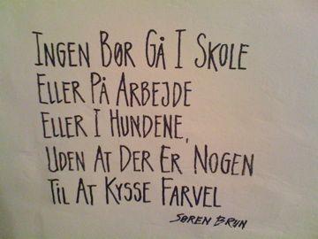Citat; Søren Brun  Foto- Charli