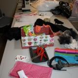 Stylist bordet backstage   Foto; Charli