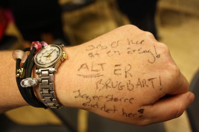 SÅDAN, en mantra det burde tatoveres:-)   Foto: Charli