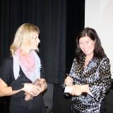Pernille Damore glad efter en veloverstået workshop    Foto: Charli
