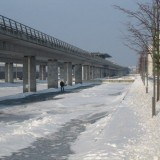 Kanaler til at skøjte på langs Metroen   Foto; Charli