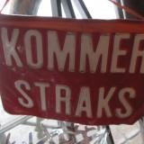 Håndlavet skilt fra Amsterdam  Foto; Charli