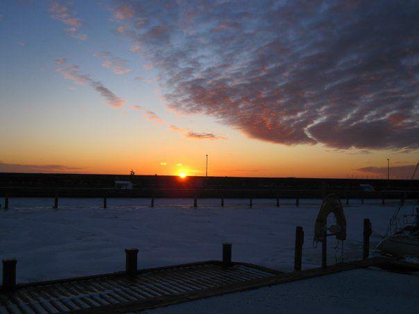 Solnedgang over Skovshoved havn   Foto; Charli