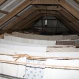 Tørrestativ på loftet   Foto: Charli