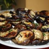 Grillede auberginer