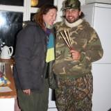 Jesper og jeg i total overlevelsesudstyr  Foto: Charli