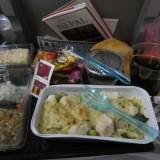 Det ultimative bedste måltid jeg ever har fået på et fly, Quatar styrer!! Big time.     Photo: Charli