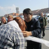 Min første blessings på vegne af tibetanerne    Photo: Rikke