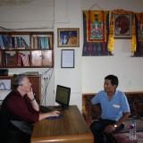 Pia Kryger Lakha på kontoret i Kathmandus afdeling af Tiber Charity      Photo: Charli