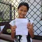 Korrekt engelsk og en meget smuk skrift. Super diciplin, godt gået Yeshi!    Photo: Charli