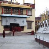 Pujaen er færdig og munkene myldrer ud       Photo: Charli