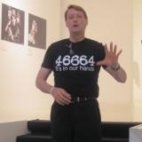 Nelson Mandelas højrehånd udtrykker sin taknemmelighed for projectet i Danmerk og fortæller om hvor meget det faktisk betyder for aids ramte familier i Sydafrika.    Foto: Fairstyles
