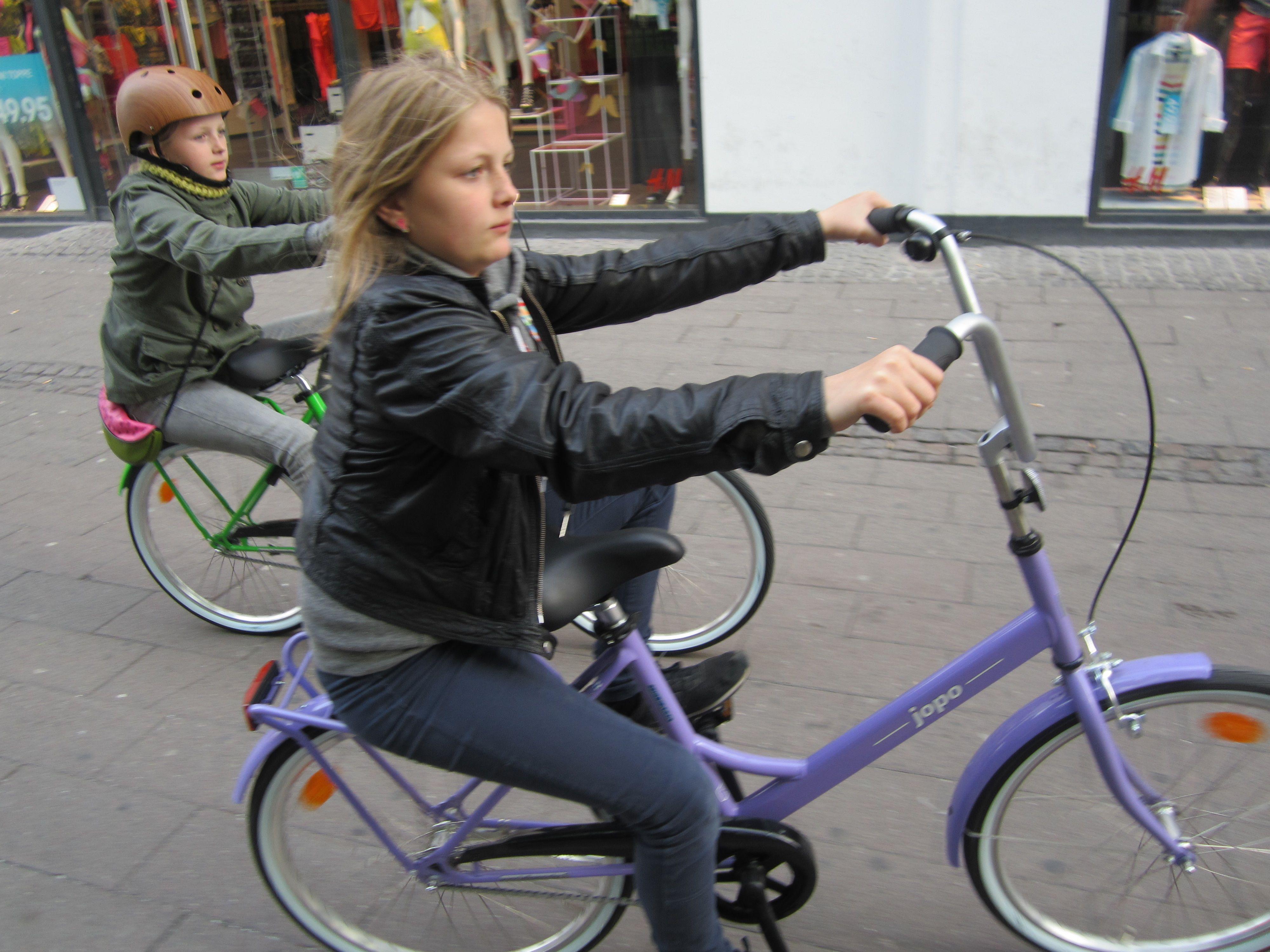 størrelse på cykel