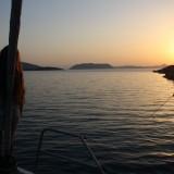 Magisk lille sunset time på dækket    Foto: Charline Skovgaard