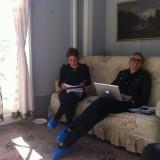 Produktionsteamet, Fie og Julie har styr på alle detaljer      Photos: Charline Skovgaard