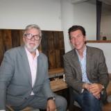 En gemmel og en ny ambassadør, Morten Grundwald og Jesper Lohmann     Photo: Charline Skovgaard