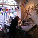 Forberedelser til sent på Fairstyles, stylist bureauet   Foto: Charline Skovgaard