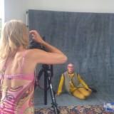 Fotografen Charlotte Trippetti laver portrætter af alle modellerne i deres første sæt  Photo: Charli Skovgaard