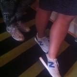 Solidt benarbejde, modeller linet op. New Balence donerede sko til alle   Photo: Charli Skovgaard