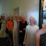 Alle modellerne linet op på gangen klar til rehersal   Photo: Charli Skovgaard