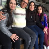 "Fotograf Stine Heilmann sammen med ""min"" irakiske familie"